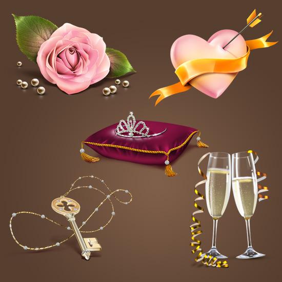 Романтическая коллекция иконок