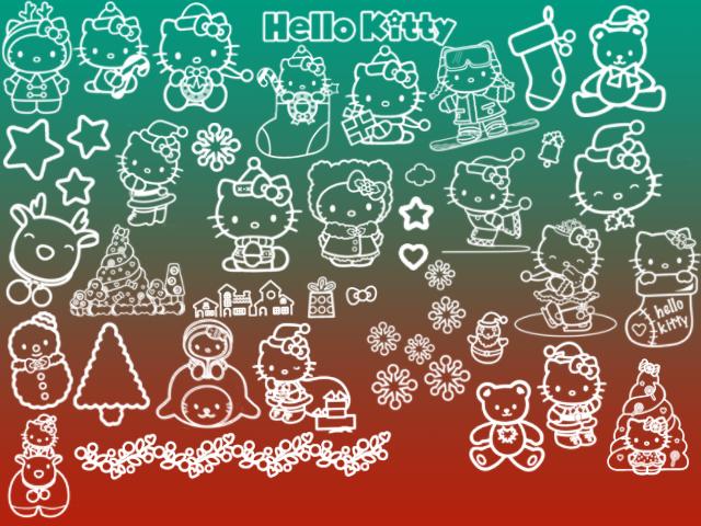 Hello Kitty Рождественские кисточки