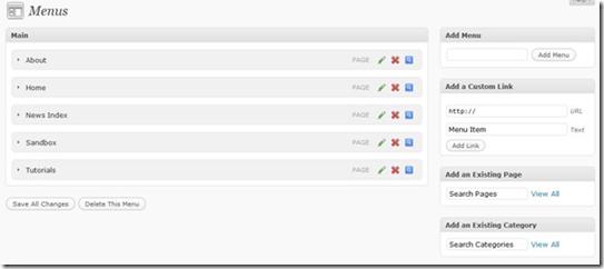 Новые скриншоты WordPress 3.0