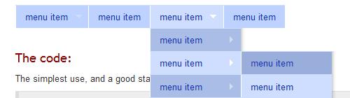 Исходники меню и навигаций