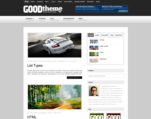 Новая сборка тем wordpress summer 2010